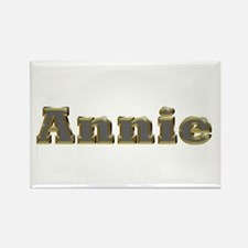 Annie Gold Diamond Bling Rectangle Magnet