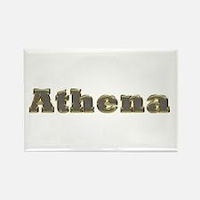 Athena Gold Diamond Bling Rectangle Magnet