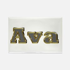 Ava Gold Diamond Bling Rectangle Magnet
