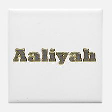 Aaliyah Gold Diamond Bling Tile Coaster