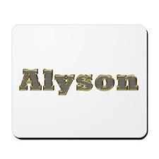 Alyson Gold Diamond Bling Mousepad