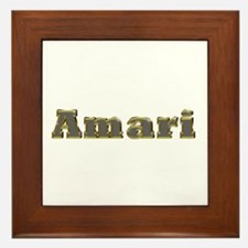 Amari Gold Diamond Bling Framed Tile