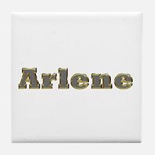 Arlene Gold Diamond Bling Tile Coaster