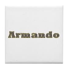Armando Gold Diamond Bling Tile Coaster