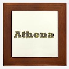 Athena Gold Diamond Bling Framed Tile