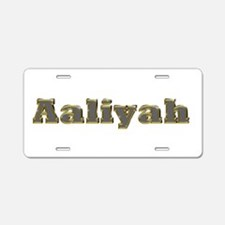 Aaliyah Gold Diamond Bling Aluminum License Plate