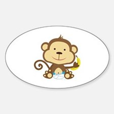 Monkey Sticker (Oval)