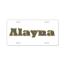 Alayna Gold Diamond Bling Aluminum License Plate