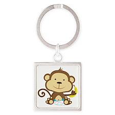 Monkey Square Keychain
