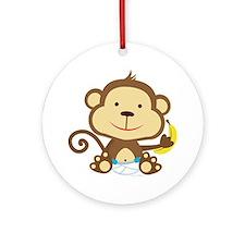 Monkey Round Ornament