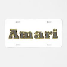 Amari Gold Diamond Bling Aluminum License Plate