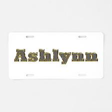 Ashlynn Gold Diamond Bling Aluminum License Plate
