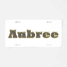 Aubree Gold Diamond Bling Aluminum License Plate
