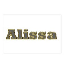 Alissa Gold Diamond Bling Postcards 8 Pack