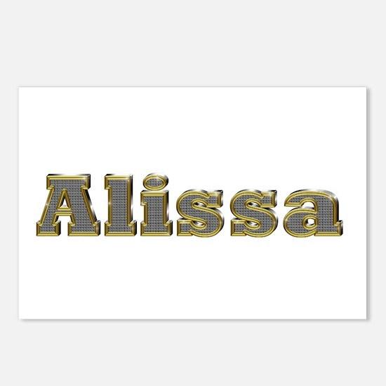Alissa Gold Diamond Bling Postcards 8 Pack