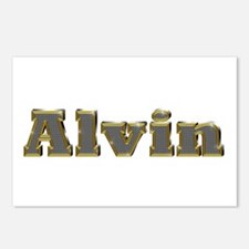 Alvin Gold Diamond Bling Postcards 8 Pack