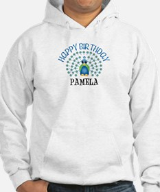 Happy Birthday PAMELA (peacoc Jumper Hoody