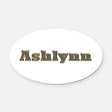 Ashlynn Gold Diamond Bling Oval Car Magnet