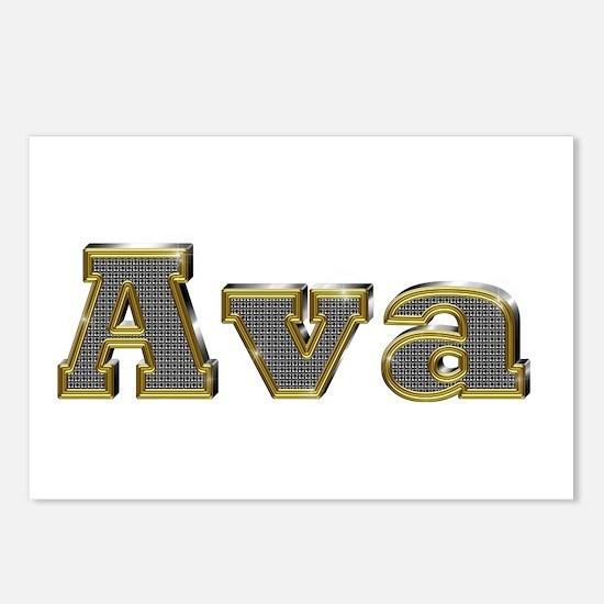 Ava Gold Diamond Bling Postcards 8 Pack