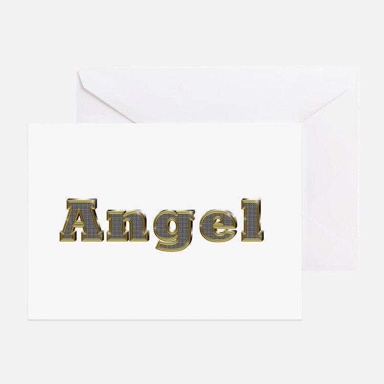 Angel Gold Diamond Bling Greeting Card