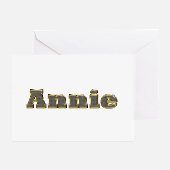 Annie Gold Diamond Bling Greeting Card