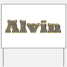 Alvin Gold Diamond Bling Yard Sign