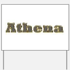 Athena Gold Diamond Bling Yard Sign