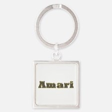 Amari Gold Diamond Bling Square Keychain