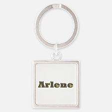 Arlene Gold Diamond Bling Square Keychain