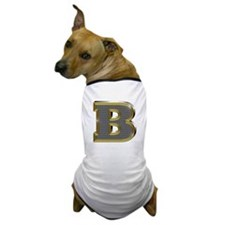 B Gold Diamond Bling Dog T-Shirt