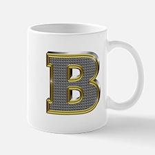 B Gold Diamond Bling Mugs