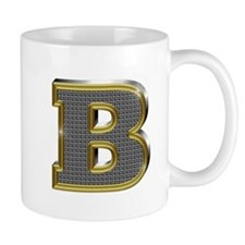 B Gold Diamond Bling Mugs