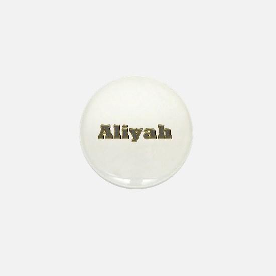 Aliyah Gold Diamond Bling Mini Button