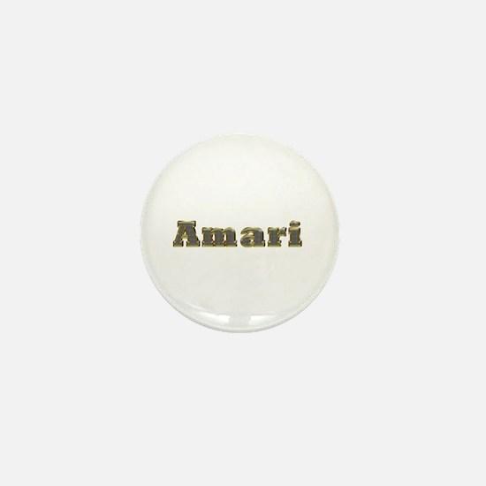Amari Gold Diamond Bling Mini Button