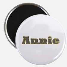 Annie Gold Diamond Bling Round Magnet 10 Pack