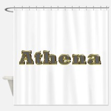 Athena Gold Diamond Bling Shower Curtain
