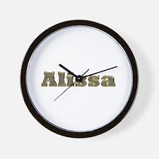 Alissa Gold Diamond Bling Wall Clock