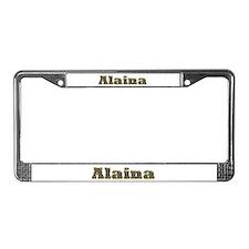 Alaina Gold Diamond Bling License Plate Frame