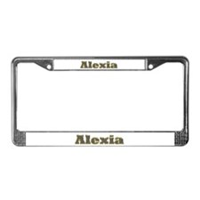 Alexia Gold Diamond Bling License Plate Frame