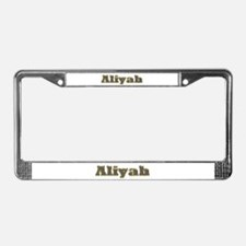 Aliyah Gold Diamond Bling License Plate Frame
