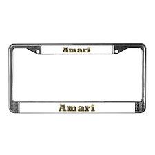 Amari Gold Diamond Bling License Plate Frame