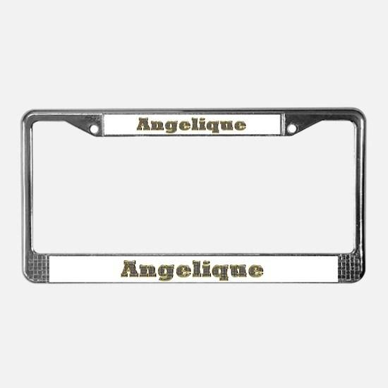Angelique Gold Diamond Bling License Plate Frame