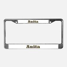 Anita Gold Diamond Bling License Plate Frame