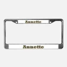 Annette Gold Diamond Bling License Plate Frame