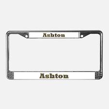 Ashton Gold Diamond Bling License Plate Frame