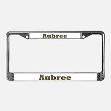 Aubree Gold Diamond Bling License Plate Frame