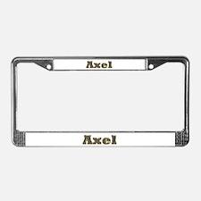 Axel Gold Diamond Bling License Plate Frame