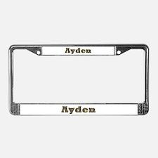 Ayden Gold Diamond Bling License Plate Frame