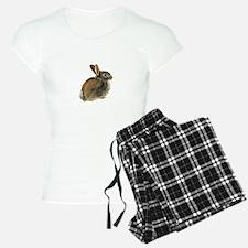 Baby Rabbit Portrait in Pastels pajamas