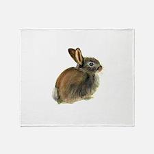 Baby Rabbit Portrait in Pastels Throw Blanket